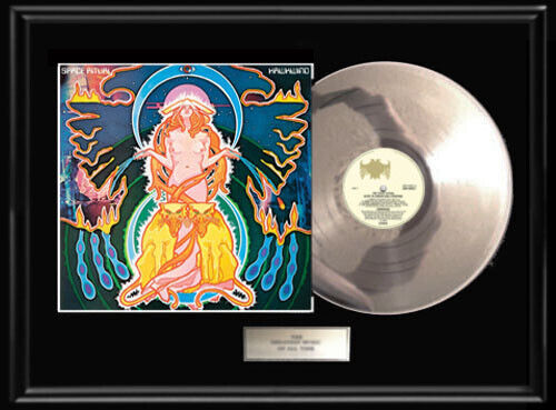 HAWKWIND LIVE SPACE RITUAL FRAMED LP WHITE GOLD SILVER PLATINUM TONE RECORD