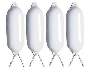 4-X-MAJONI-WHITE-BOAT-FENDERS-DEFLATED-SIZE-5-FREE-ROPE-LARGE