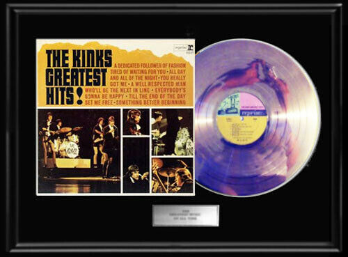 THE KINKS GREATEST HITS ALBUM LP GOLD METALIZED RECORD ALBUM VINYL NON RIAA