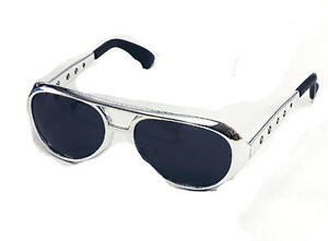 Silver-Elvis-Presley-Sunglasses-Glasses-The-King-Fancy-Dress