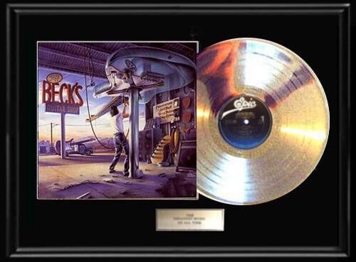 JEFF BECK GUITAR SHOP ALBUM FRAMED LP VINYL RECORD DISPLAY RARE NO REPROS!