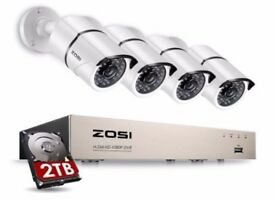 ZOSI 1080P Home Security Camera System 8 Channel CCTV CameraSystem with 2 TB Hard Drive