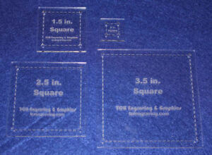Quilting Template - 4 Piece Half Size Square Set - 1/8