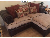 Lovely sofa and pouffe