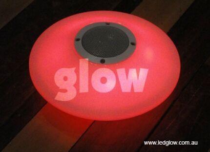 LED Illuminated Glowing Floating Bluetooth Sound Pebble