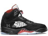 Supreme X Nike Air Jordan 5 Retro 'Black' Size UK 10 Brand New
