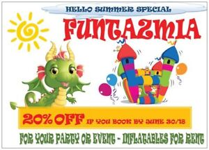 """""""HELLO SUMMER"""" SPECIAL - 20% OFF INFLATABLE RENTAL"""