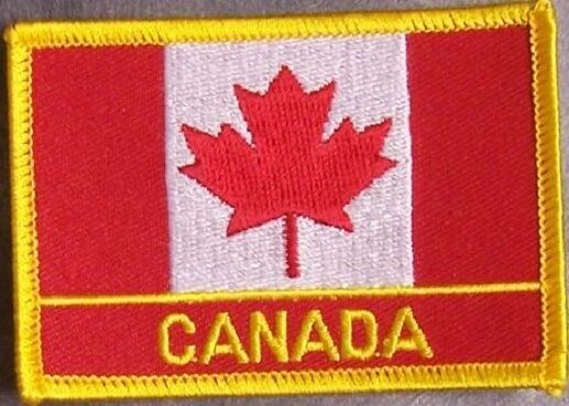 Embroidered International Patch National Flag of Canada NEW flag