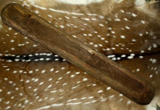 """*Carved Wooden Dough Bowl Primitive Wood Trencher Tray Rustic Home Decor 36-39"""""""