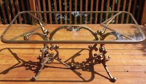 Wrought Iron Antique Table Hauser