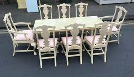 Beautiful Table, 8 Chairs & Sideboard