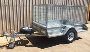 KESSNER 7X5 COMMERCIAL GALVANISED SINGLE CAGE BRAKES AND RAMPS Pooraka Salisbury Area Preview