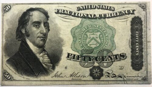 USA - Fractional Currency - Dexter - 50 Cents - 4th Issue - Fr-1379 - Crisp XF+
