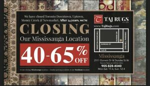 AREA RUGS STORE CLOSING