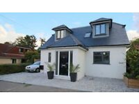 New refurbished 4 bedroom detached chalet bungalow for rent