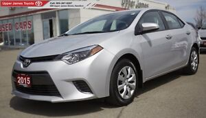 2015 Toyota Corolla LE - 160-pt inspected, Toyota Certified.