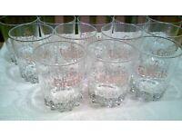 Set of 12 Vintage Whiskey Glasses