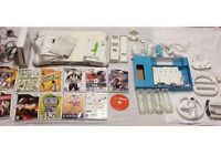 Job lot Nintendo Wii console and Wii Fit bundle.