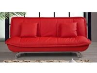RED LEATHER SOFA BED ONLY £175, DELIVERED ANYWHERE IN LONDON