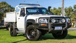 2010 Nissan Patrol GU 6 MY10 DX White 5 Speed Manual Cab Chassis Wangara Wanneroo Area Preview