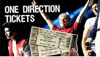 2x ONE DIRECTION tickets for 5th September 2015 @ 7pm-100$/EACH