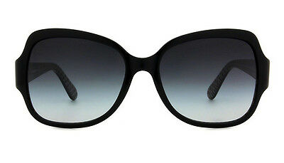 NWT Tory Burch Sunglasses TY 7059 1145/11 Black / Gradient Gray 57 mm 114511 NIB