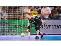 Futsal(indoor football) 5 a side goalkeeper wanted