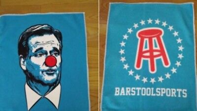Roger Goodell Clown Face Barstool Sports Towel Giveaway Gillette Patriots
