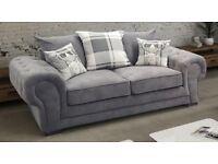 Verona 2 Seater Grey Sofa