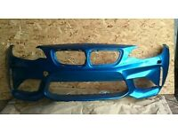 BMW 1 SERIES F87 M2 COUPE FRONT BUMPER IN BLUE HAS HLW