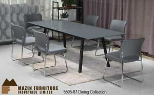 7 PC glass table top Dining Set with Extension (MA259)