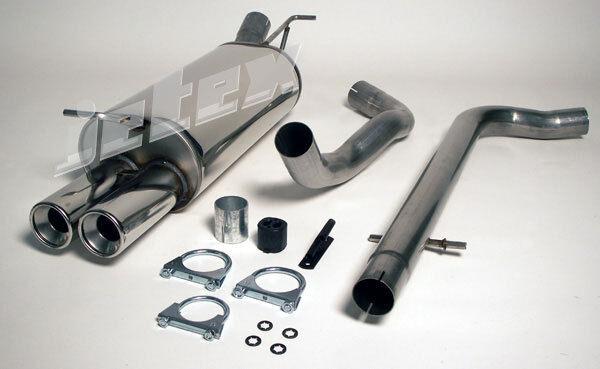 Jetex Audi A3 8L MK1 1.6 1.8 1.9TDI 96-03 Stainless Steel Cat Back Exhaust
