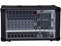PA System comprising Peavey PVi 8B mixer & PV 115 Loudspeakers with stands