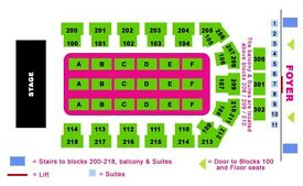 Kings of Leon tickets x 2 seated together - Block 102
