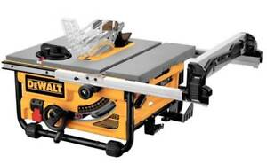 DEWALT DW745 10-in 15 Amp Compact Job Site Table Saw with 20-in