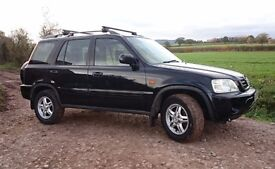 BLACK HONDA CRV, REG NOV 2000, 2.0L PETROL, 122,644 MILEAGE, MOT until 11/06/18 !!
