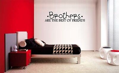 BROTHERS ARE THE BEST OF FRIENDS VINYL WALL DECAL LETTERING KIDS ROOM DECOR (Best Decal Kids)