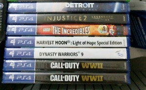 PS4 PlayStation 4 games SEALED cod dynasty warriors detroit