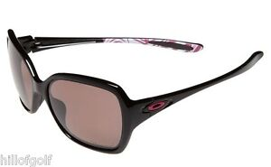 NEW AUTHENTIC OAKLEY WOMENS BREAST CANCER OVERTIME SUNGLASSES POLARIZED BLACK
