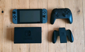 Nintendo Switch Console + Pro Controller and Mario Kart 8 Deluxe