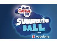 Capital's FM Summertime Ball 2017 2x2 Pitch Standing Tickets Wembley Stadium, UK