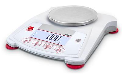 Ohaus Spx422 Lab Balance Compact Gold Portable Scale 420gx0.01gac Adapternew