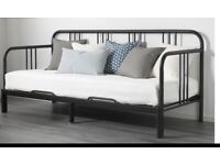 Single/double day-bed (sofa bed) convertible with 2 mattresses.