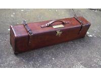 Leather Watson Bros gun case. Last seen Chiswick Road London W4