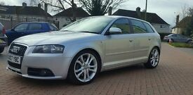MAY SWAP FOR FN2! 2007 AUDI A3 SPORTBACK 2.0 TDI 170 S LINE MANUAL, FMDSH & HPI CLEAR