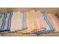 Handmade Crochet Baby Blankets **Brand New**