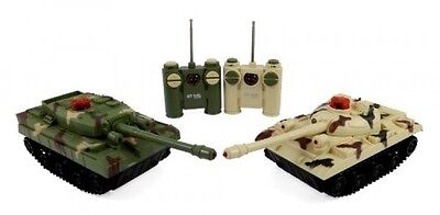 RC Fighting Battle Tanks Set of 2 Abrams Remote Control Battling Tank Toys for