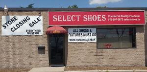 Shoe Store Closing Sale - All Shoes and Store fixture must go!