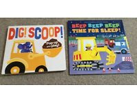Digger / Construction Book Bundle With A Pop Up Book - Immaculate Condition!