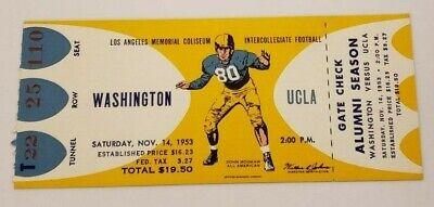 1953 Washington vs. UCLA Full Football Ticket for sale  Shipping to Canada